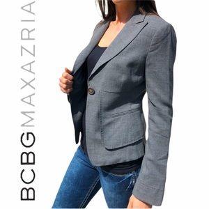 BCBGMAXAZRIA- one button peplum Blazer